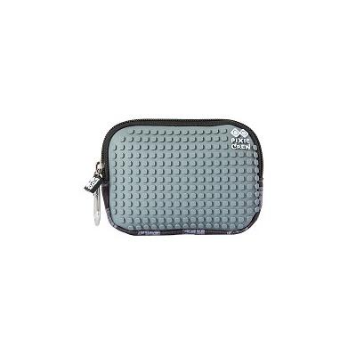 Kreatívne pixelové puzdro PIXIE CREW sivá kocka PXA-08-15