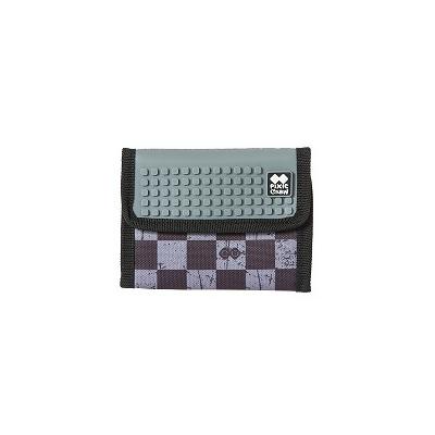Kreatívna pixelová peňaženka PIXIE CREW sivá kocka PXA-10-15