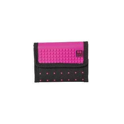 Kreatívna pixelová peňaženka PIXIE CREW fuchsiová s bodkami PXA-10-17