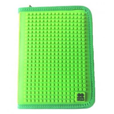Kreativní pixelový školní penál zelená kostka PXA-04-D24