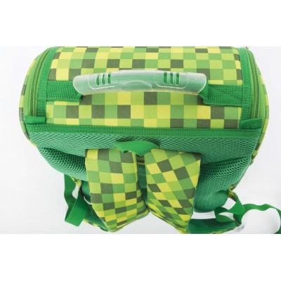 Školní aktovka PXB-22-D07 Minecraft zelená s kostkami