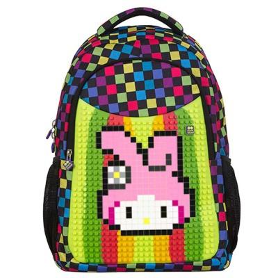 Školní kreativní pixelový batoh s penálem multibarevný PXB-16-01