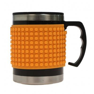 Kreativní pixelový hrnek neon oranžový PXN-02-03