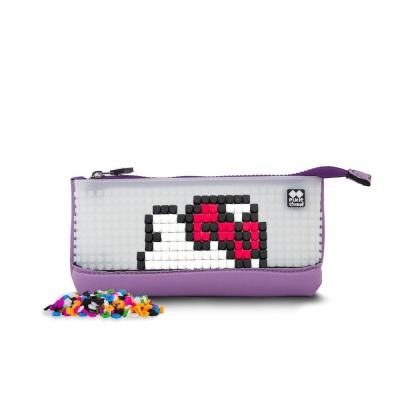 Kreativní pixelový školní penál Hello Kitty fialová PXA-02-89