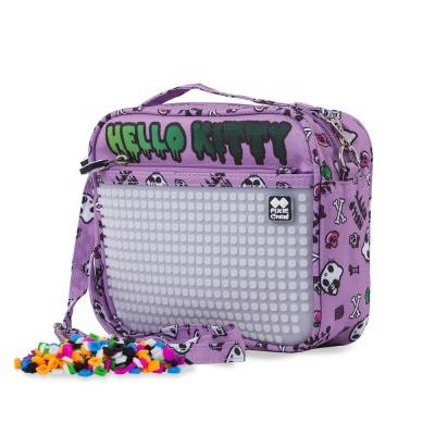 Kreativní pixelová taška přes rameno Hello Kitty fialová PXB-09-89