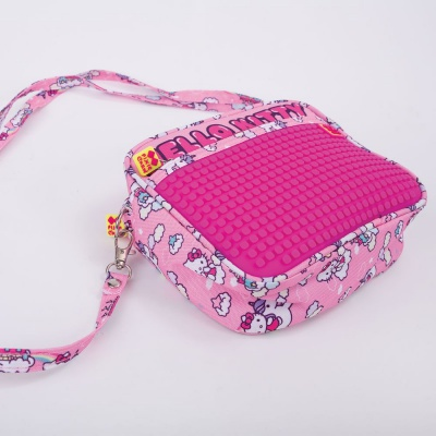 Kreativní pixelová taška přes rameno Hello Kitty - jednorožec PXB-09-88