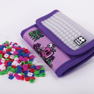 Kreativní pixelová peněženka PIXIE CREW Hello Kitty fialová PXA-10-89