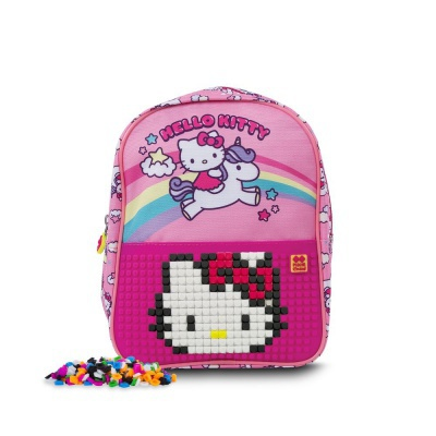 Dětský kreativní pixelový batoh Hello Kitty - jednorožec PXB-24-88