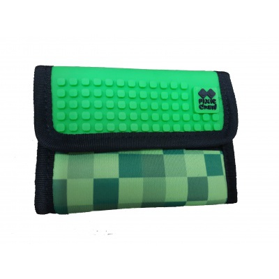 Kreatívna pixelová peňaženka PIXIE CREW Minecraft zelená PXA-10-18