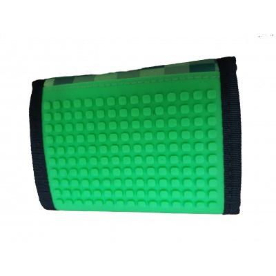 Kreativní pixelová peněženka PIXIE CREW Minecraft zelená PXA-10-18