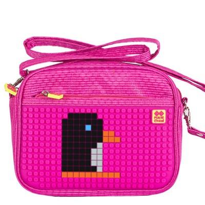 Kreativní pixelová taška přes rameno fuchsiová PXB-09-G15