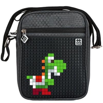 Kreativní pixelová taška přes rameno černá PXB-11-L24