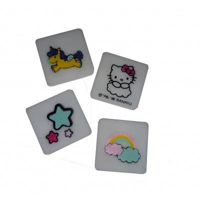 Kreatívny pixelový náramok fuchsiový Hello Kitty