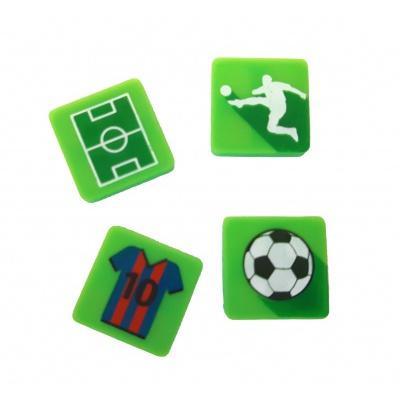 Kreativní pixelový náramek zelený - fotbal