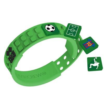 Kreatívny pixelový náramok zelený Futbal