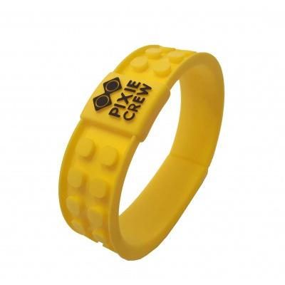 Kreatívny pixelový náramok žltý