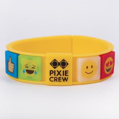 Kreativní pixelový náramek žlutý