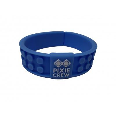 Kreativní pixelový náramek modrý