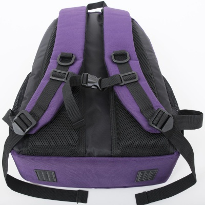 Školní kreativní pixelový batoh s penálem fialová abeceda PXB-16