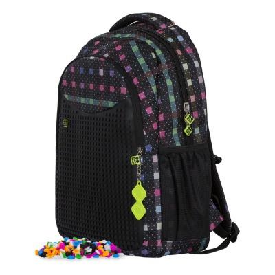 Školní kreativní pixelový batoh barevná kostka PXB-16-05