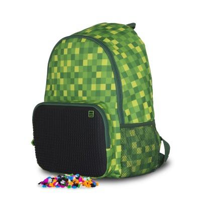 Volnočasový kreativní pixelový batoh zeleno černý PXB-02-D24