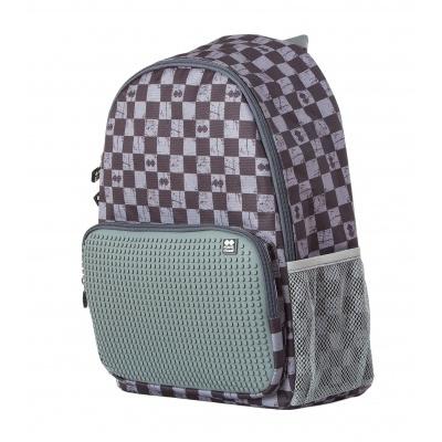 Volnočasový kreativní pixelový batoh šedá kostka/šedá PXB-02-K23