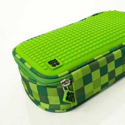 Kreativní pixelový studentský penál zelená/zelená PXA-12-D07
