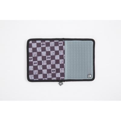 Kreatívny pixelový školský peračník  sivá kocka PXA-04-K23