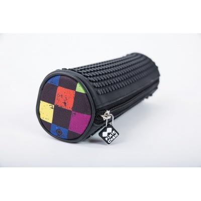 Kreativní pixelový školní penál kulatý multibarevná kostka PXA-06-Y24