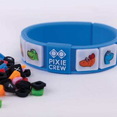 Dětský kreativní pixelový batoh Dino PXB-18-90 s náramkem ZDARMA