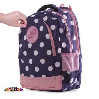 Školský kreatívny batoh PXB-06-84 modrý s bodkami