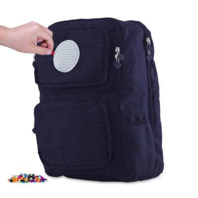 Školní kreativní pixelový batoh modrý PXB-26-85