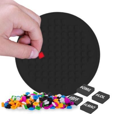 Pixelový kulatý panel černý PXX-07-24