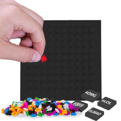 Pixelový čtvercový panel černý PXX-06-24