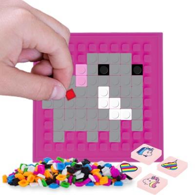 Pixelový čtvercový panel fuchsiový PXX-06-15