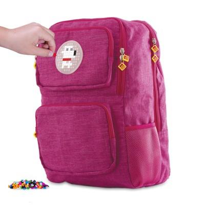 Školní kreativní pixelový batoh fuchsiový PXB-26-86