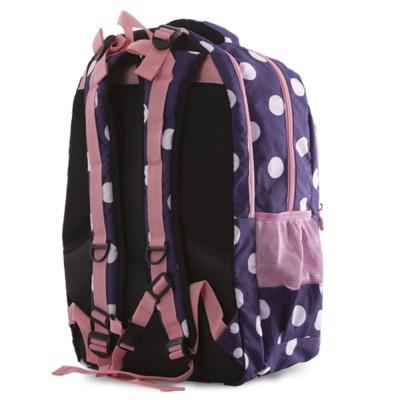 Školní kreativní pixelový batoh modrý s puntíky PXB-06-84