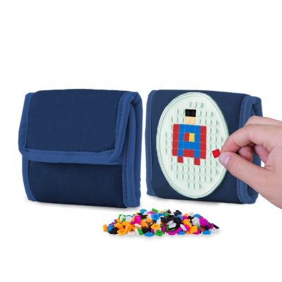 Kreativní pixelová peněženka PIXIE CREW modrá PXA-09-85