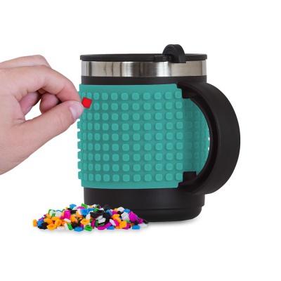Kreatívny pixelový hrnček tyrkysový PXN-02-09