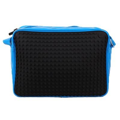 Kreativní pixelová taška přes rameno modrá A002