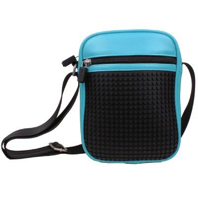 Krativní pixelová taška přes rameno Pixelbags modrá A018