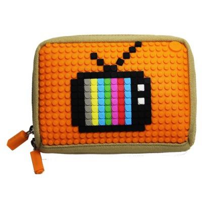 Kreativní pixelová příruční taška Pixelbags modrá B001